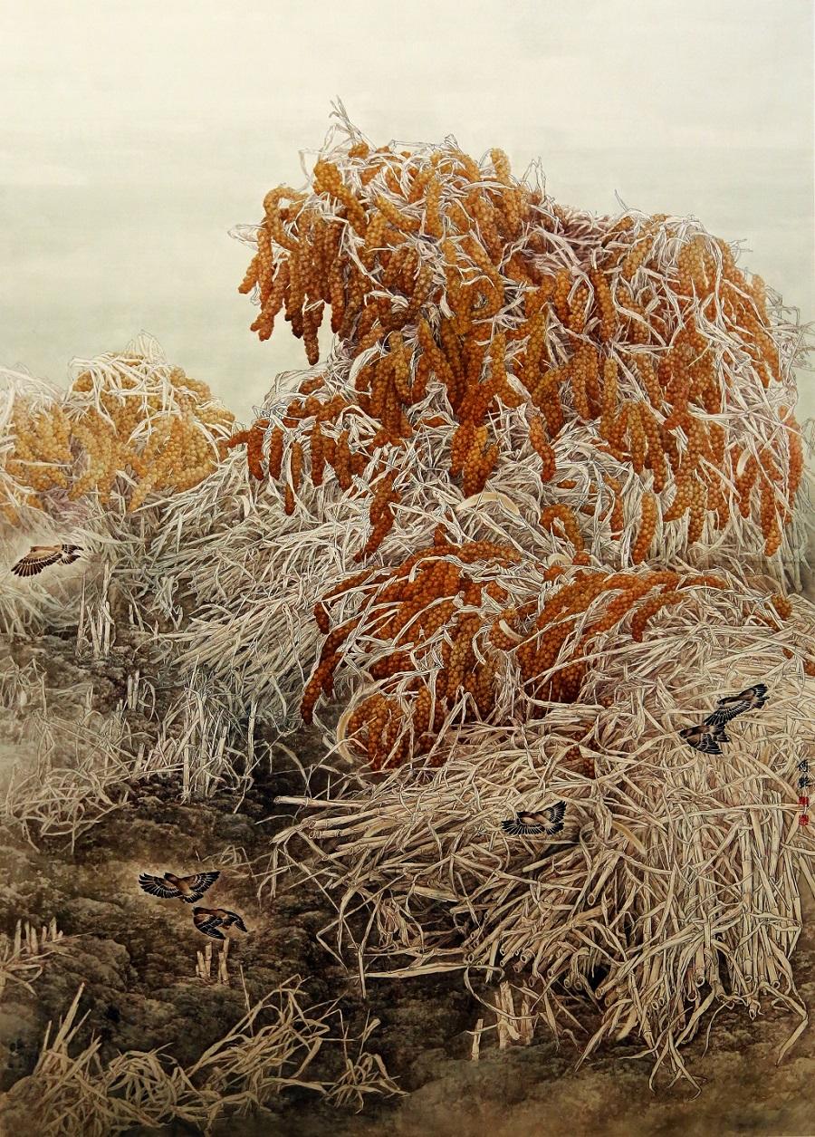 《厚土》入选工·在当代第九届工笔画220×175cm.jpg