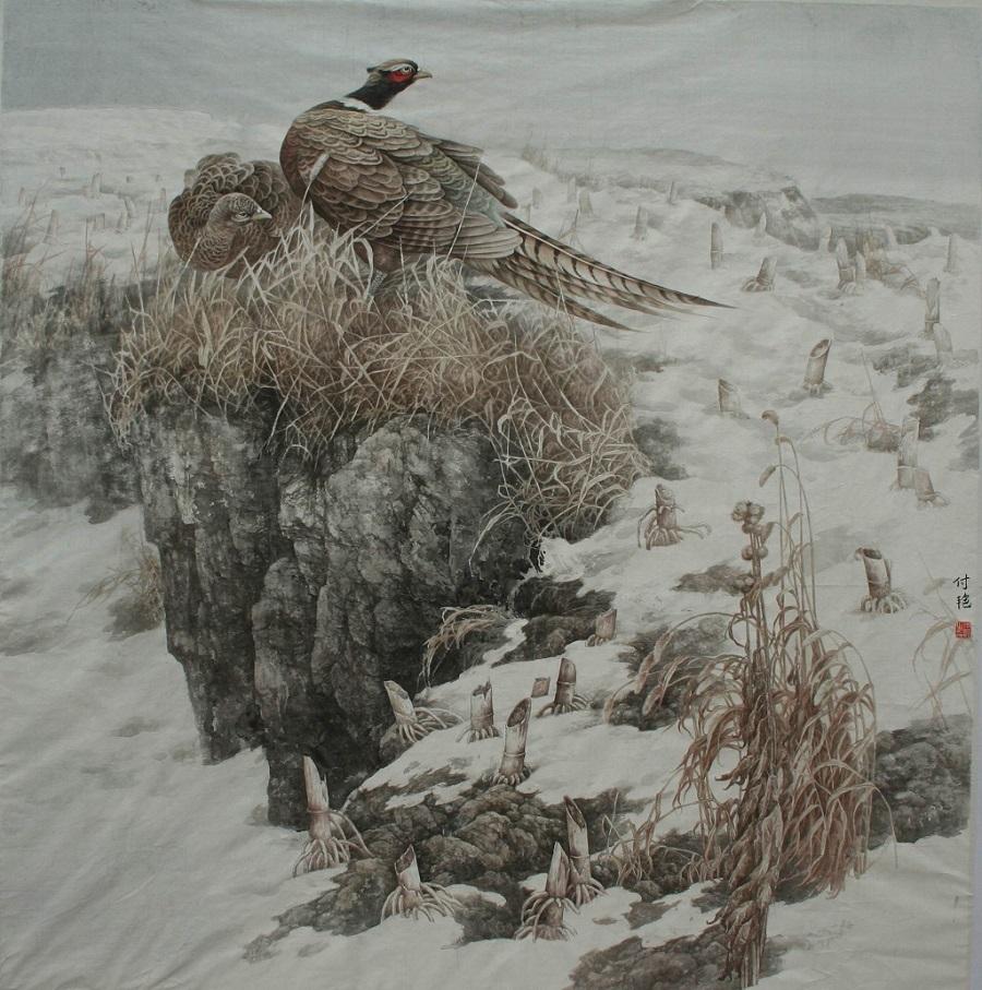 """《早春》 中国画 2008年 """"和谐家园""""全国工笔画作品展优秀奖.jpg"""