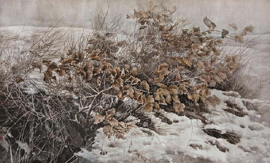 《春归》 中国画 2012年入选中国当代花鸟画展90-170.jpg