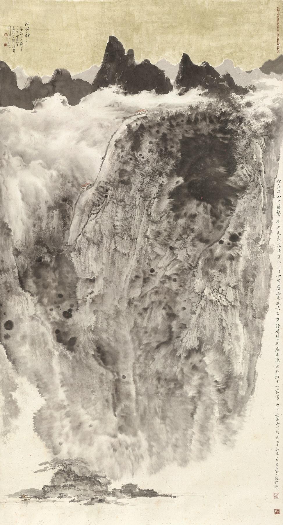 江峡融融      2015年   179cmX97cm   纸本设色.jpg
