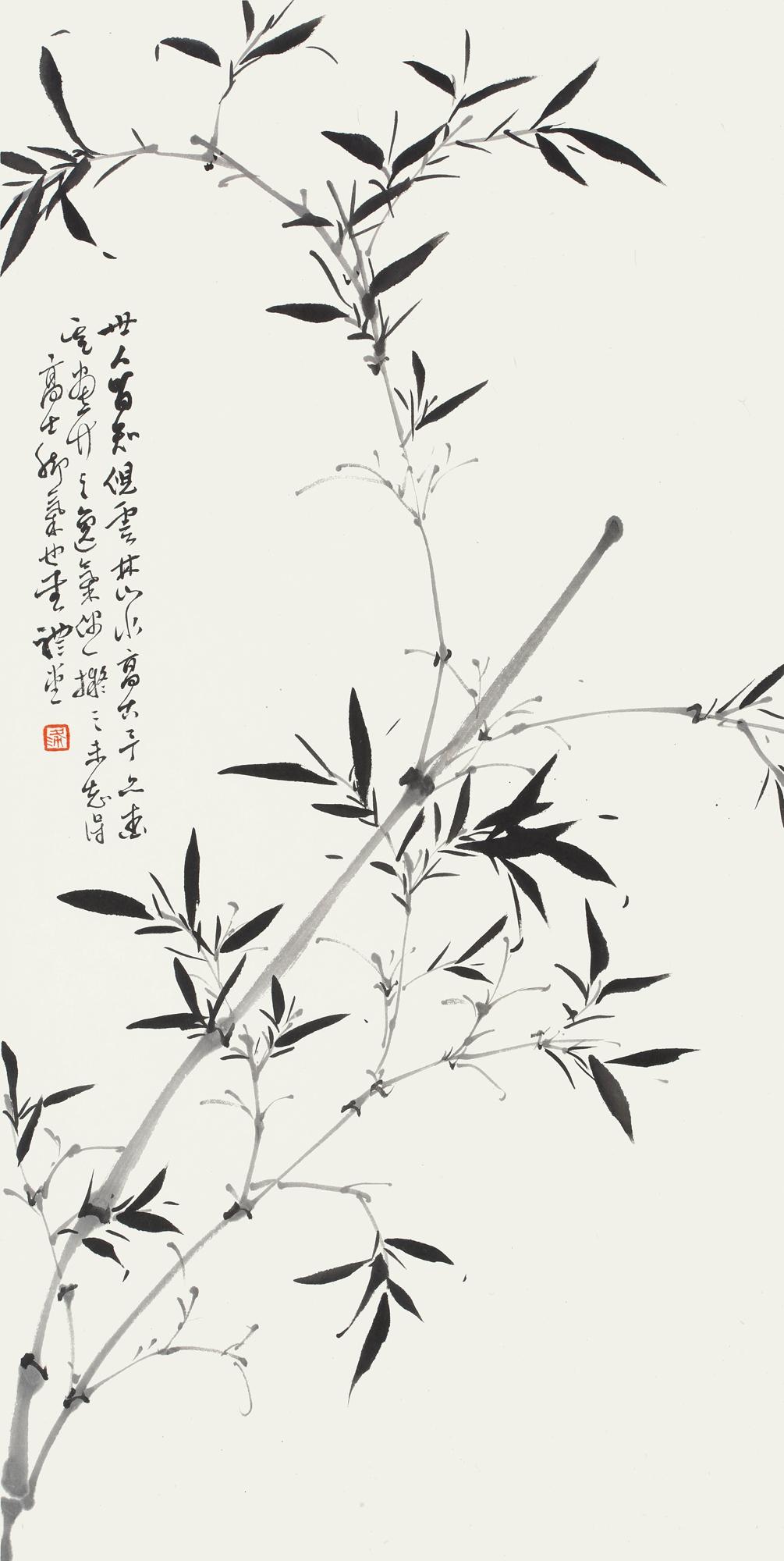 12、四君子条屏之竹 69cm×34cm.jpg