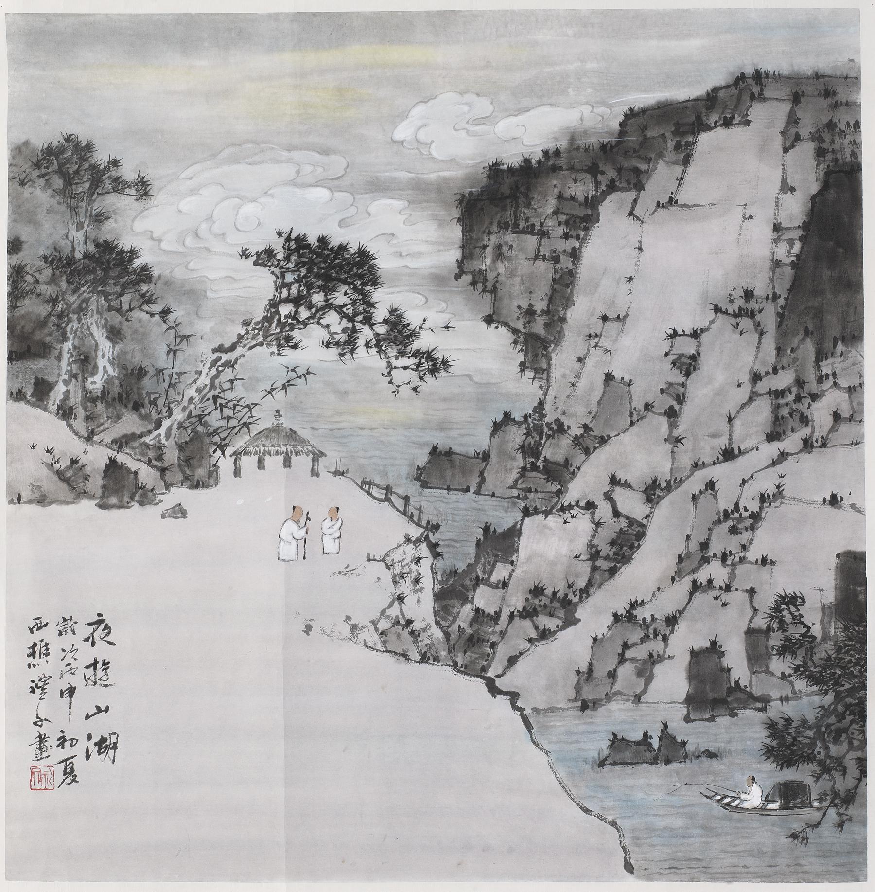 夜游山湖 规格:68cmX68cm.jpg