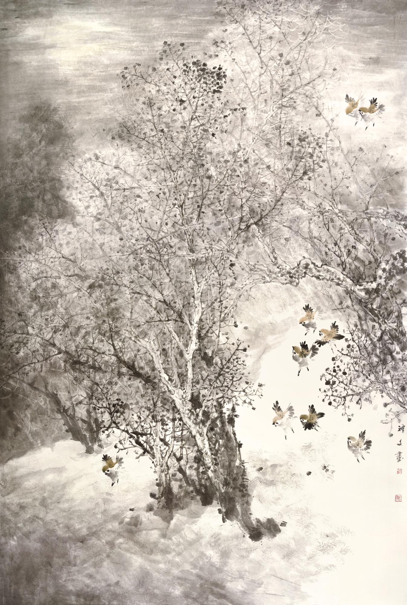 浴月图-纪念扬州2500周年城庆——丹青扬州全国中国画作品展 规格:125cmX180cm.jpg