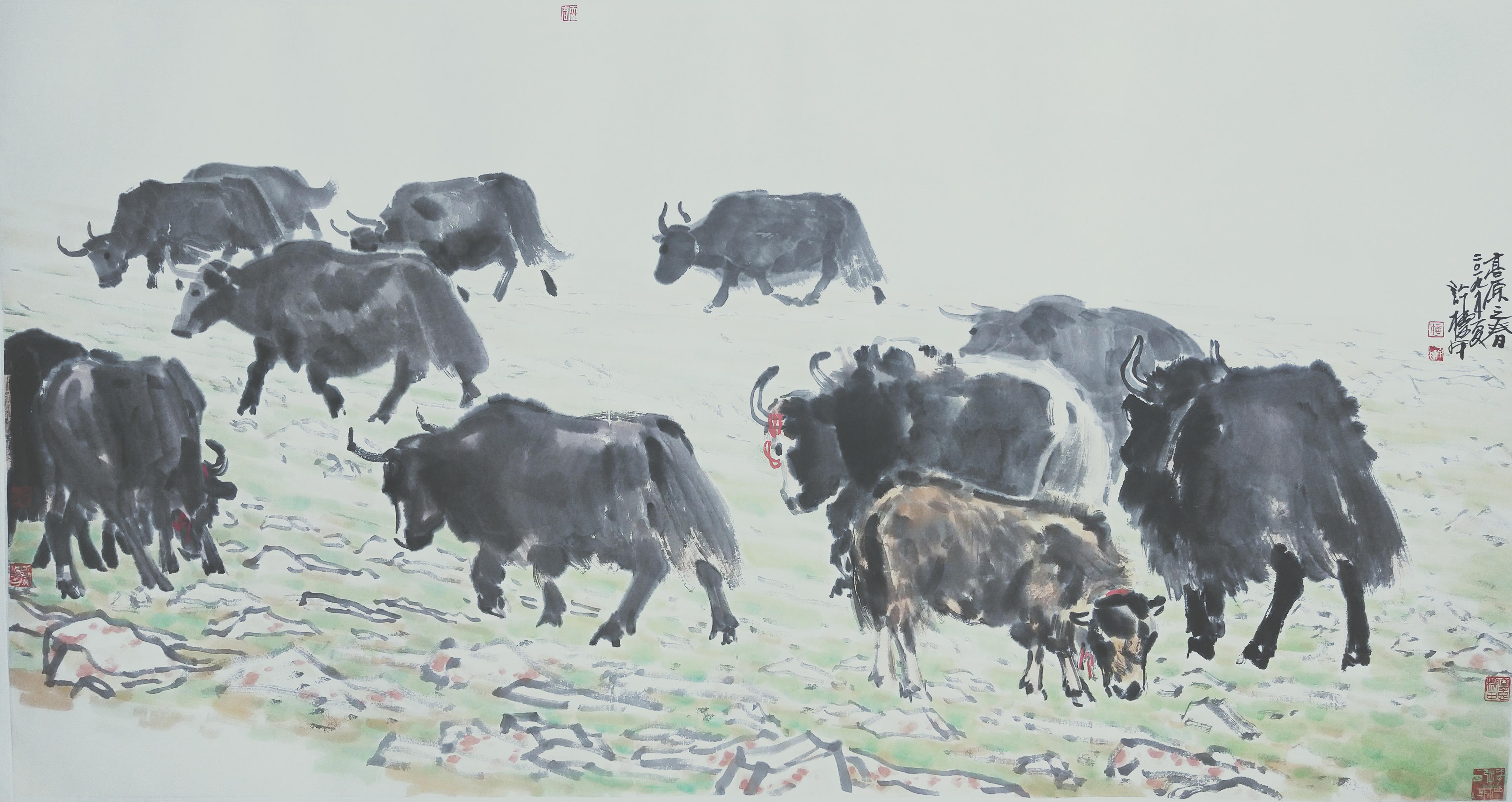 许标甲《高原之春》96×178cm.jpg