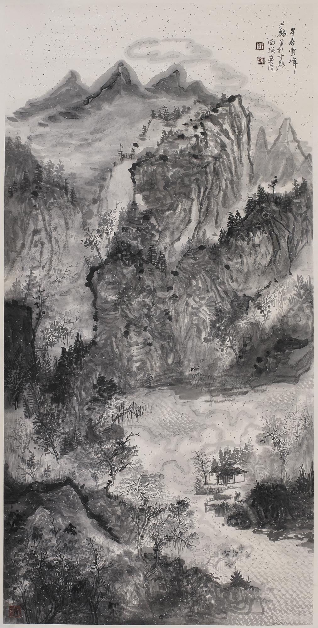 早春雲峰(138×68cm).jpg